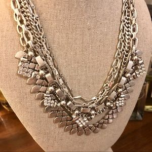 Stella and Dot Silver Sutton necklace